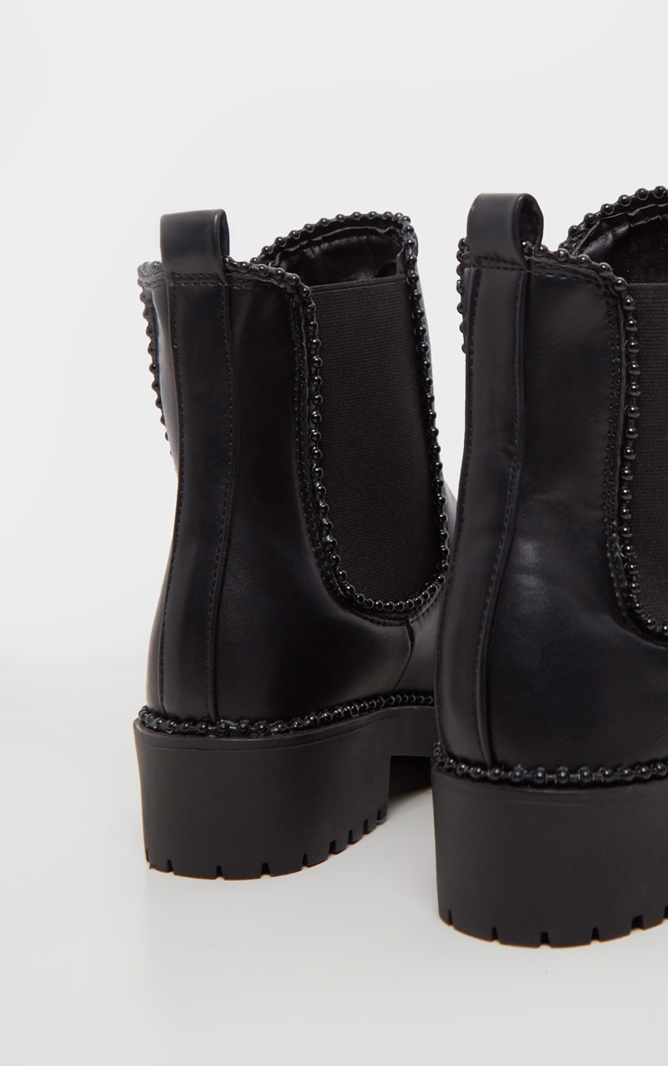 Black Studded Chelsea Ankle Boot 5