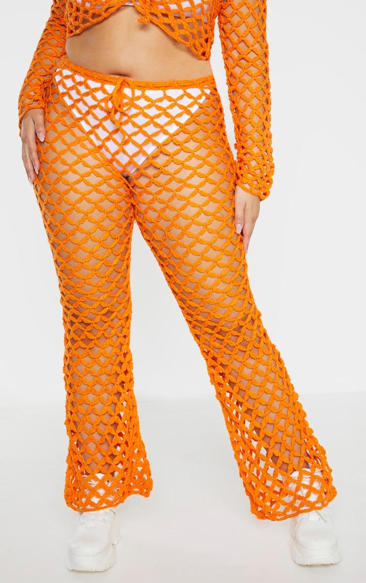 Plus Orange Crochet Flares 2