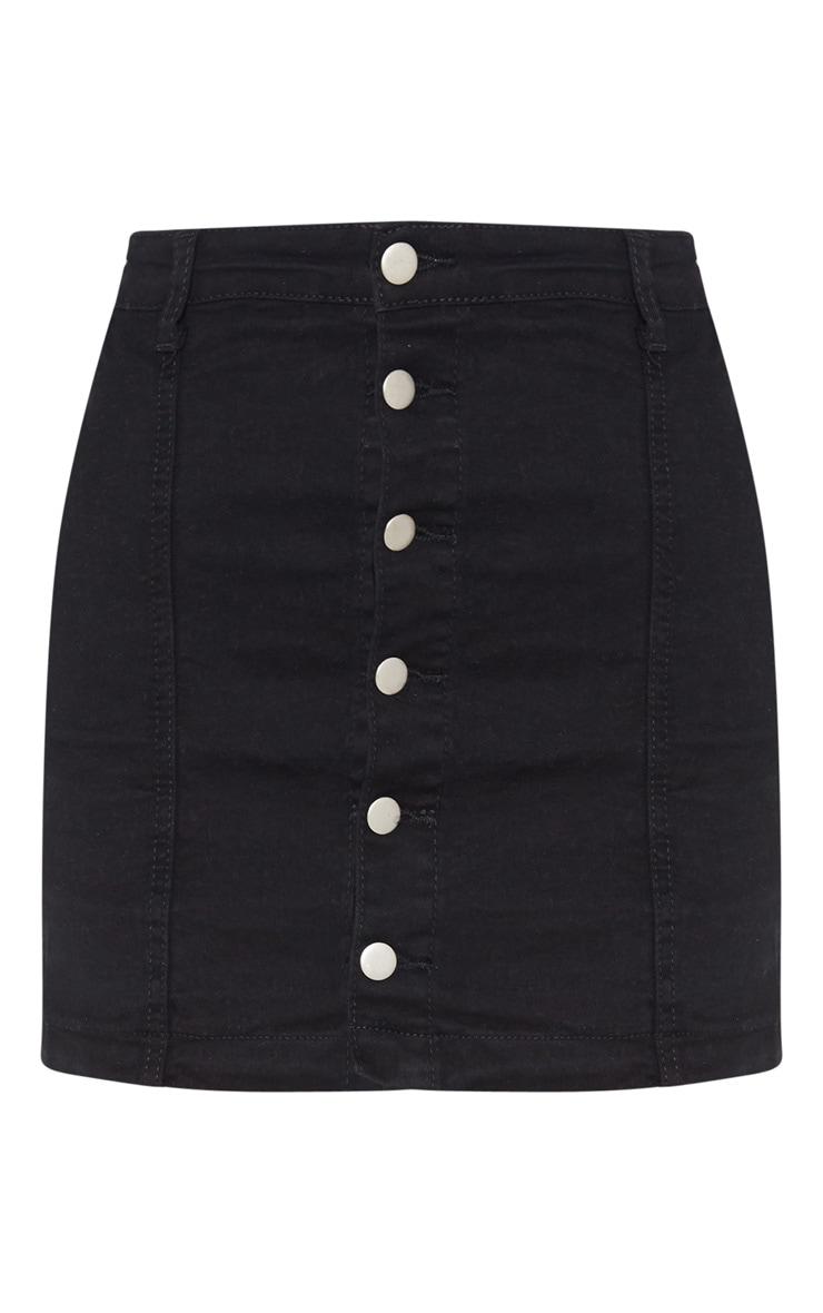 Cammie Black Denim Mini Skirt 3