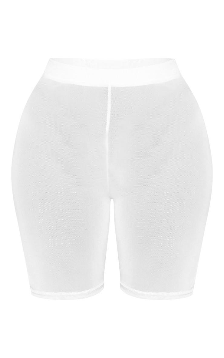 Shape White Mesh Cycling Short 3