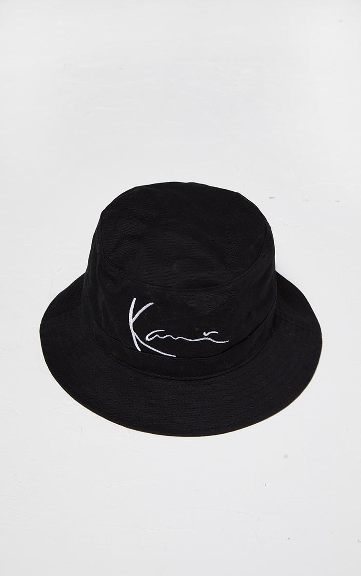 KARL KANI Black Embroidered Bucket Hat 4