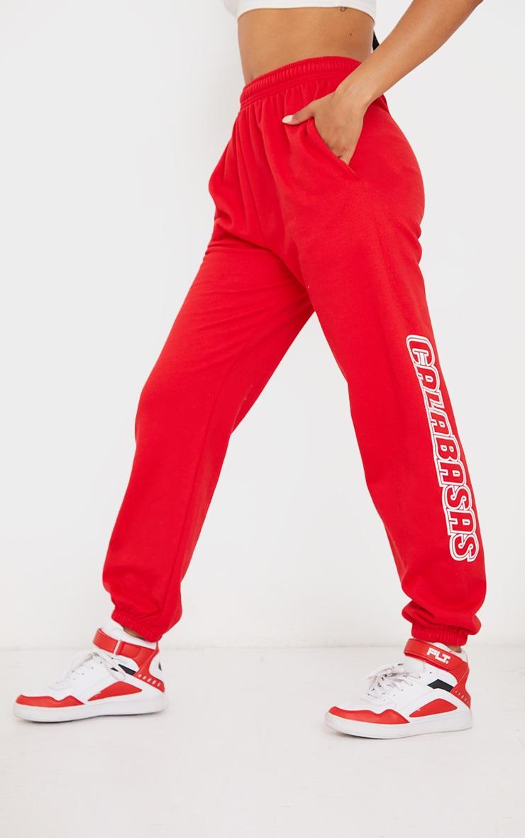 Red Calabasas Graphic Joggerss 2