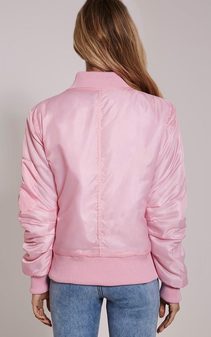 Alexus Pink Bomber Jacket 2