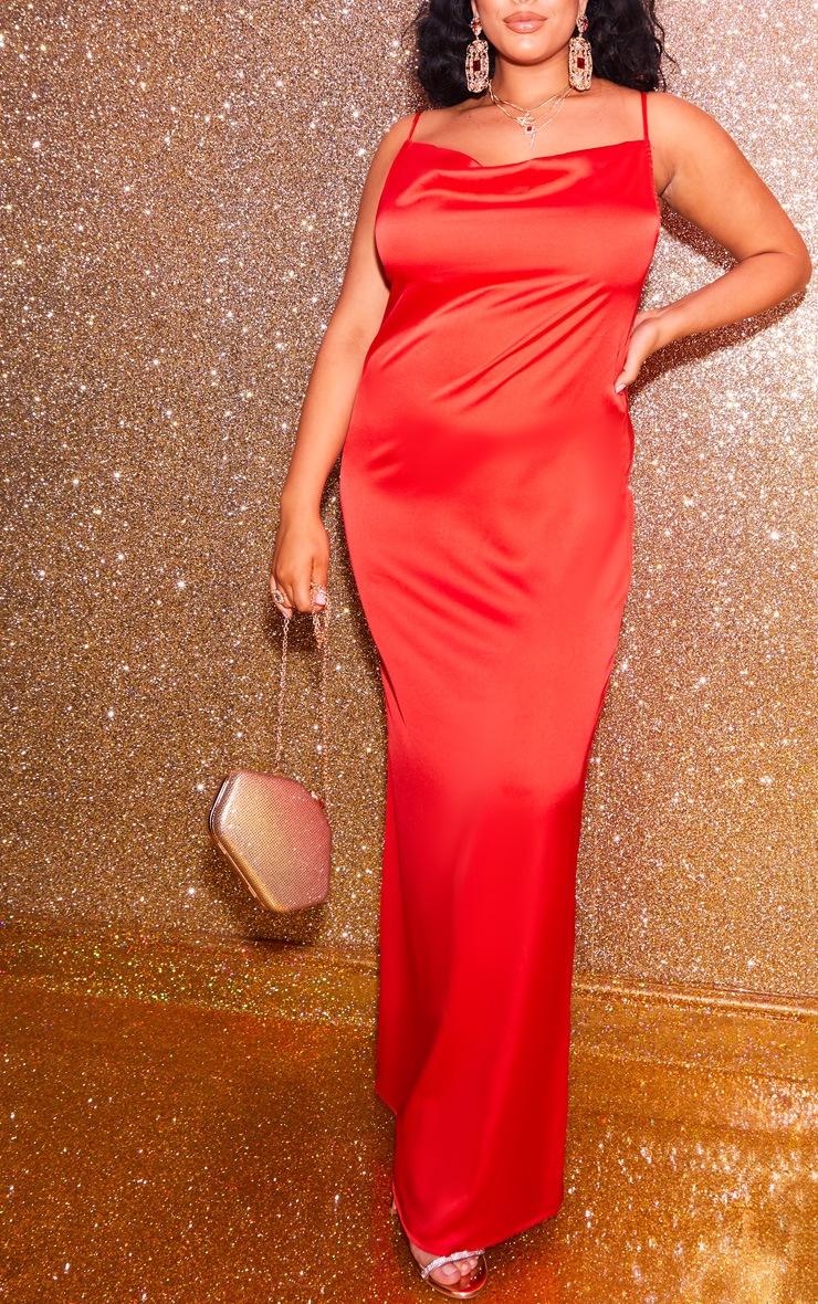 Plus Scarlet Cowl Maxi Dress 5
