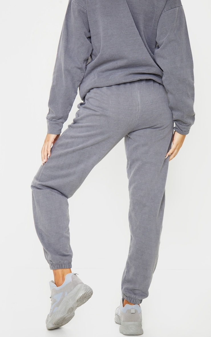 PRETTYLITTLETHING Charcoal Sport Joggers 3