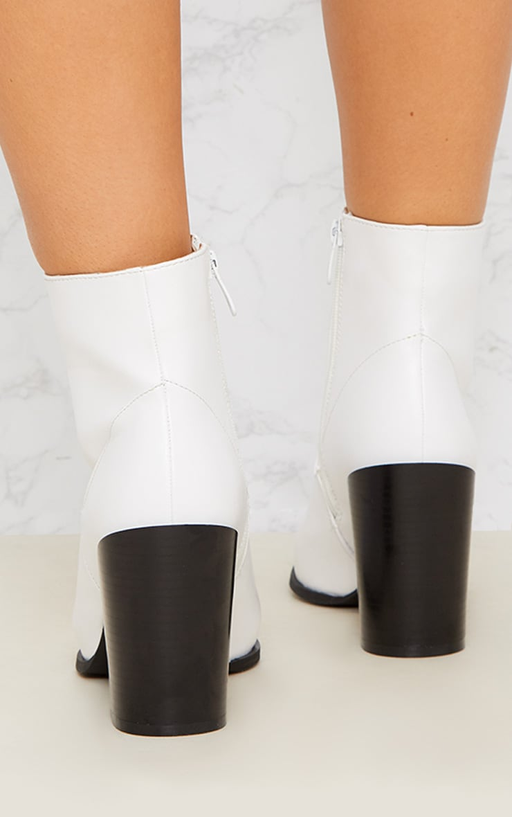 White Western Boot 5