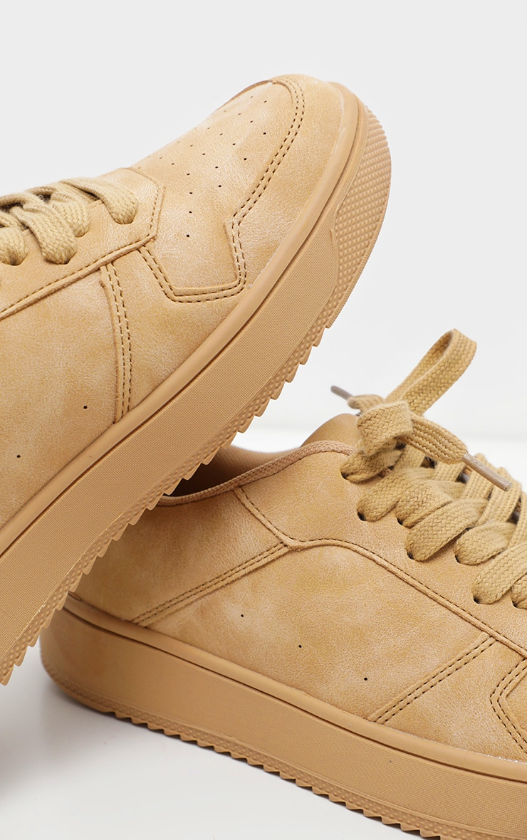 Sand Lace Up Flatform Sneaker 4