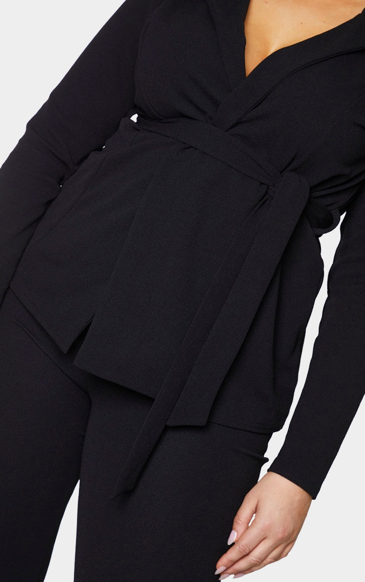 Plus Black Belted Blazer 4