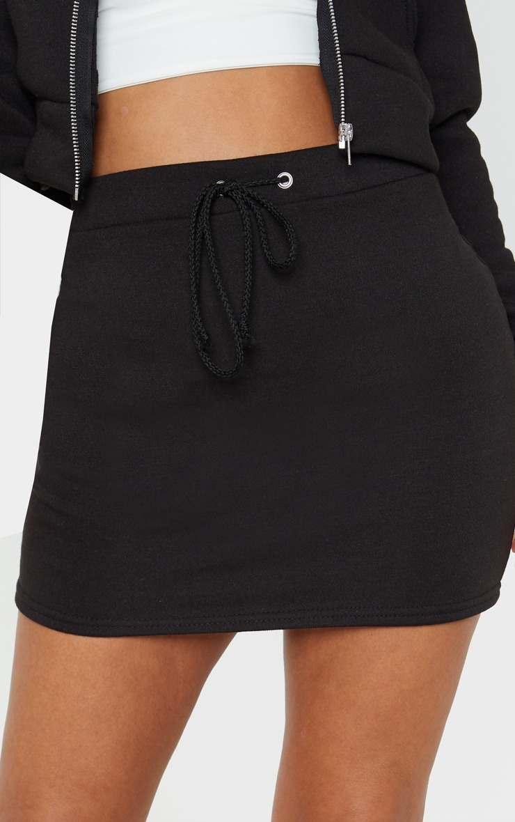 Petite Black Sweat Skirt 6