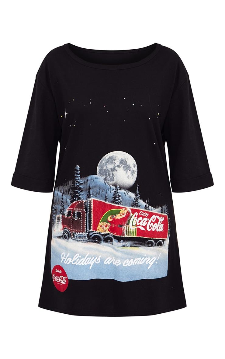 Black Coca Cola Van T Shirt Dress 3
