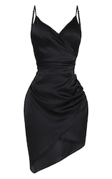 4cec05497c5 Shape Black Satin Wrap Dress image 3