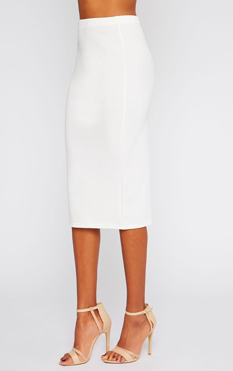 Alina Cream Crepe Midi Skirt 3