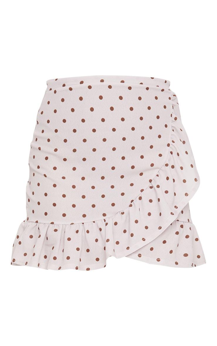 Stone Polka Dot Frill Hem Wrap Skirt 6
