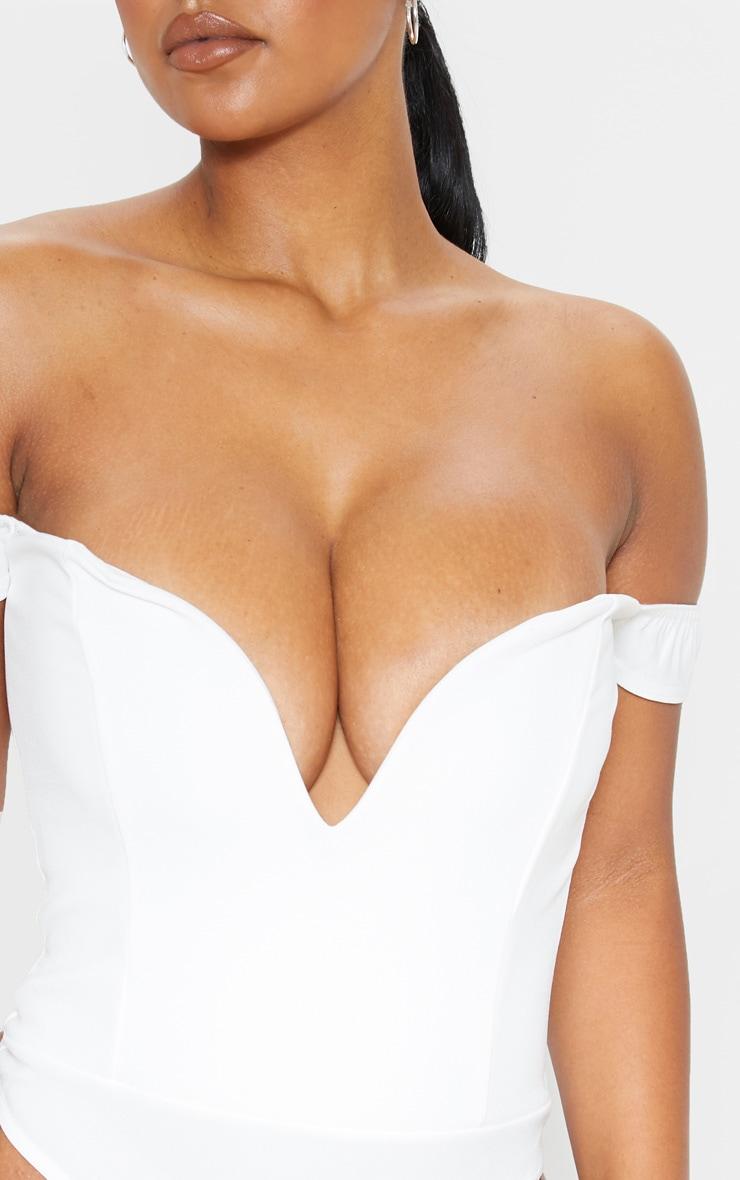 White V Bar Bardot Bodysuit 6