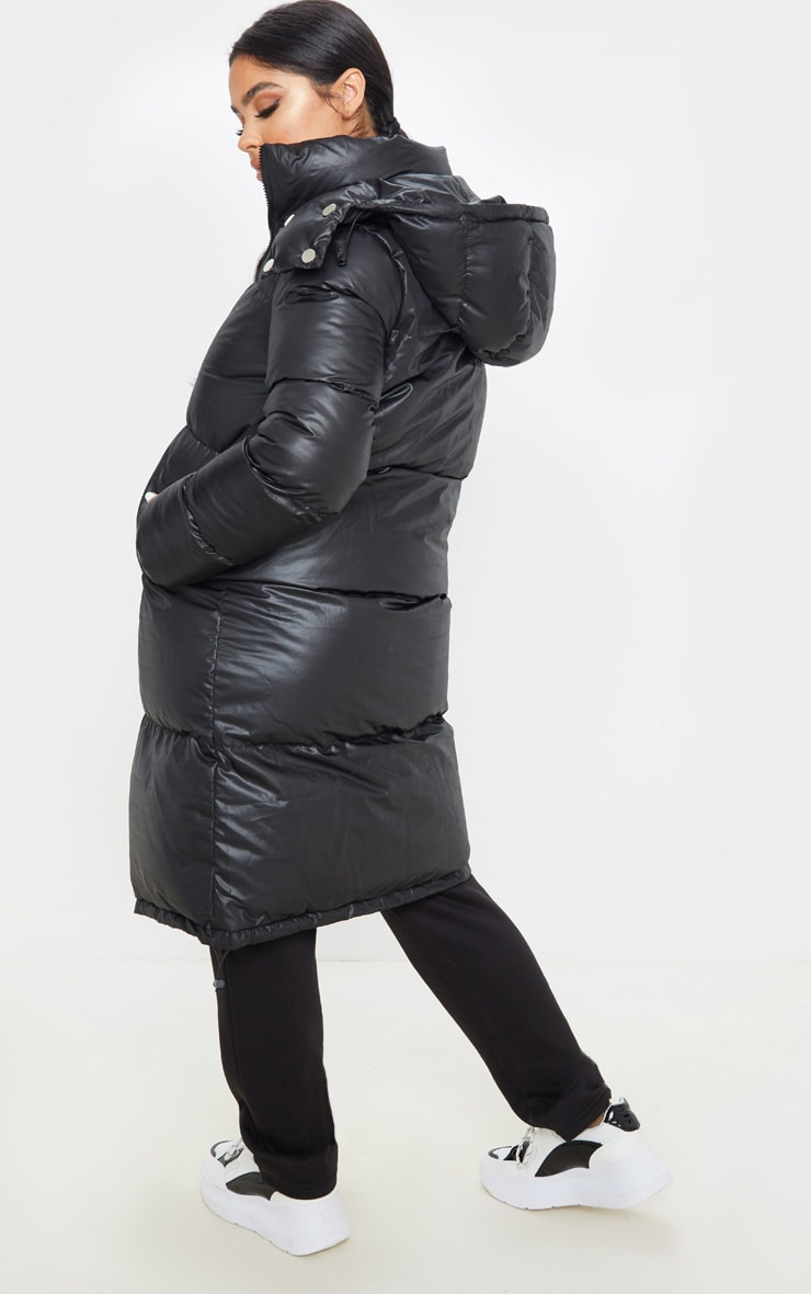 Petite Black Maxi Puffer Coat 2