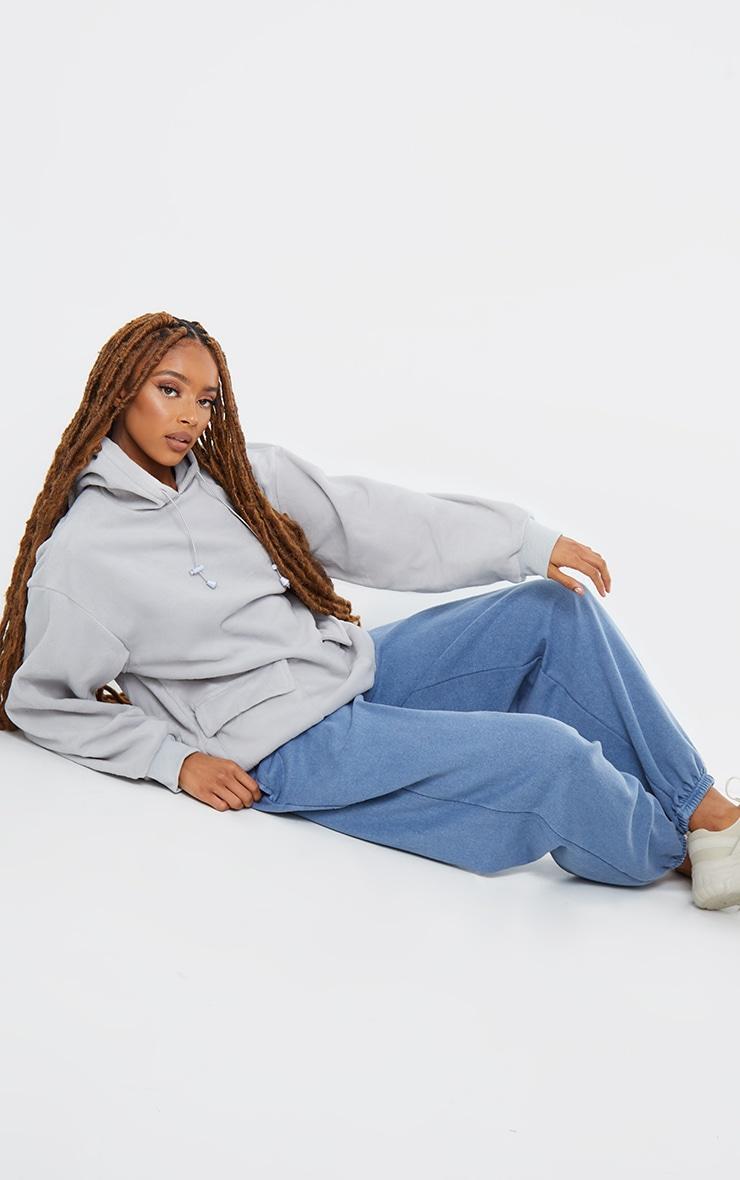 Grey Fleece Oversized Pocket Sweatshirt 3