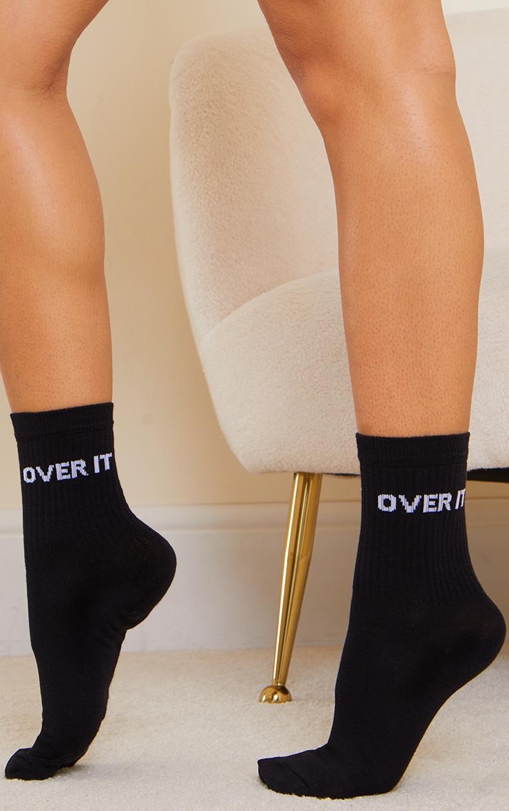 Black Over It Ankle Socks 1
