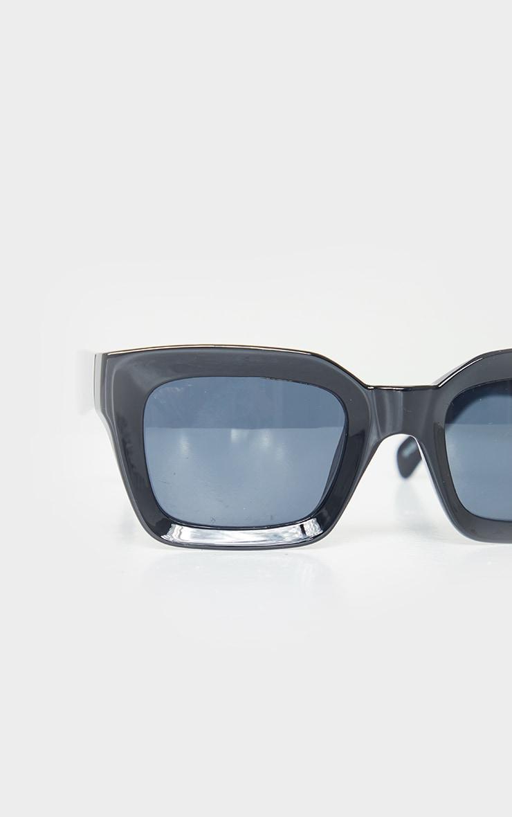 Black Square Frame Oversized Sunglasses 3