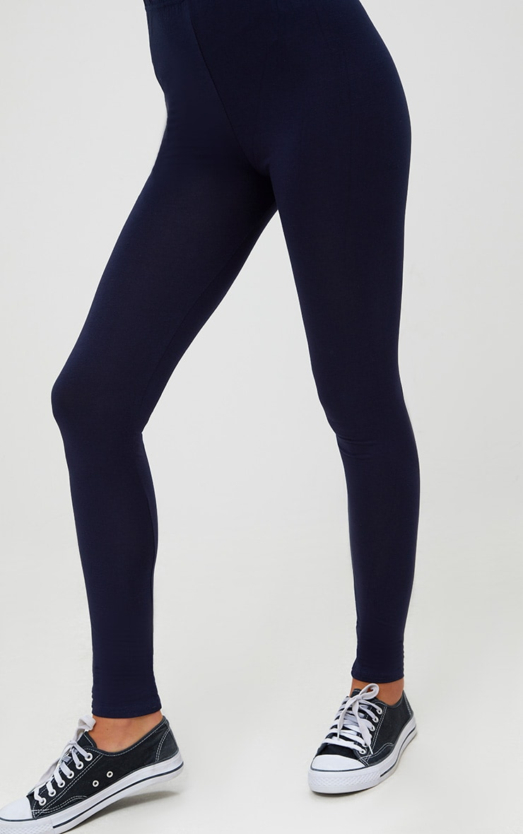 Basic Navy and Taupe Jersey Leggings 2 Pack 5