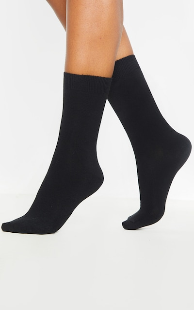 Black Two Pack Ankle Socks