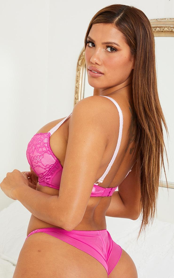Pink Ann Summers DD+ Sexy Lace Plunge Bra 2
