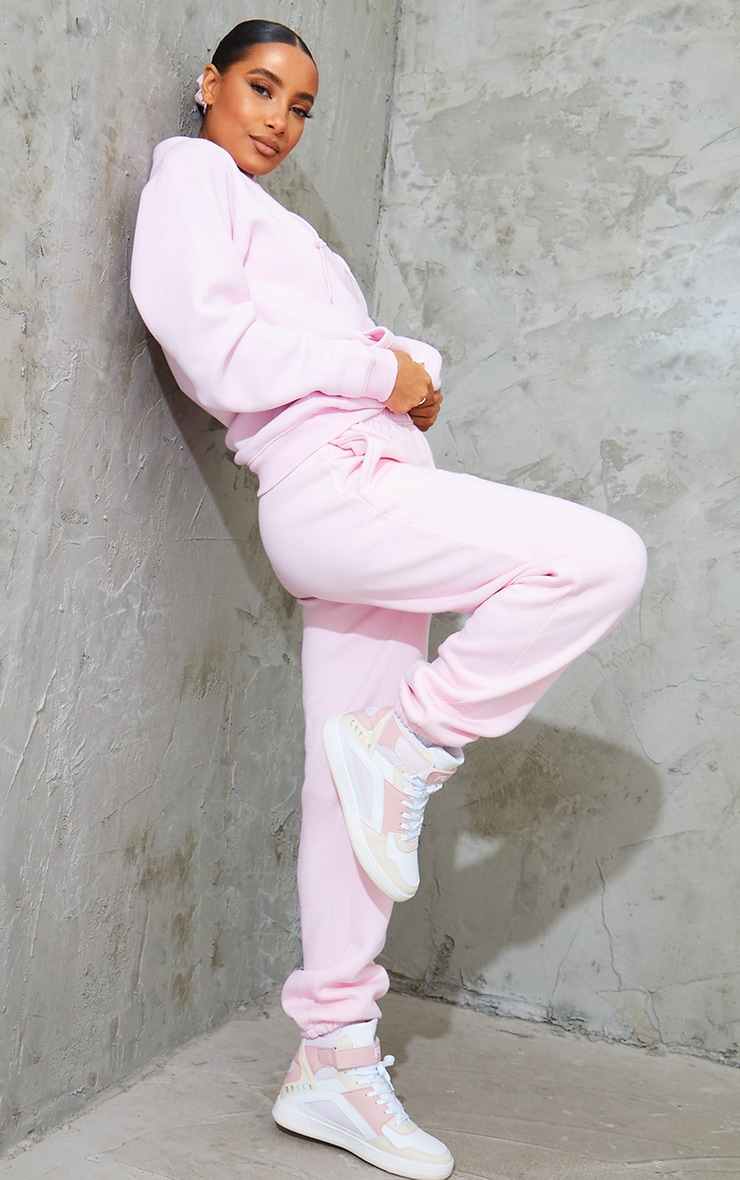 Baby Pink Casual Track Pants 1