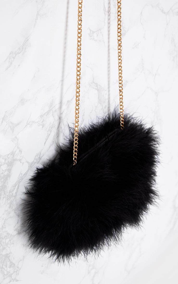 72291b5eb4 Black Marabou Feather Clutch Bag. Accessories | PrettyLittleThing