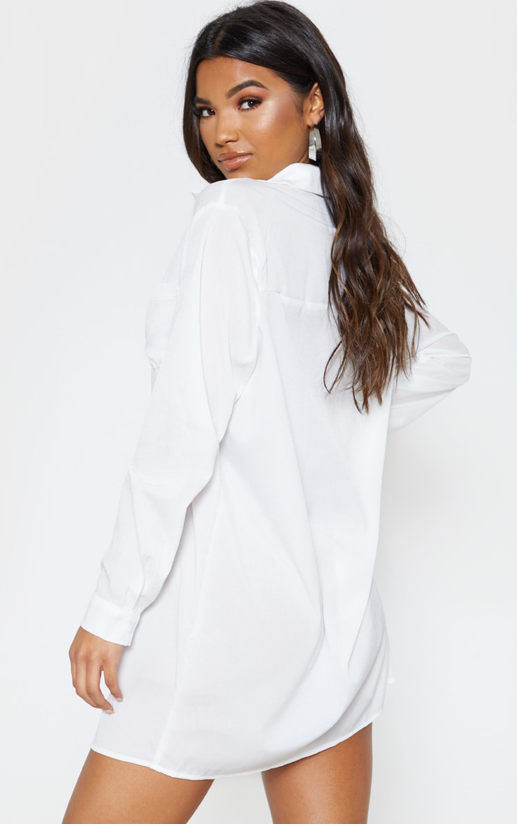 Effy White Shirt Dress 2