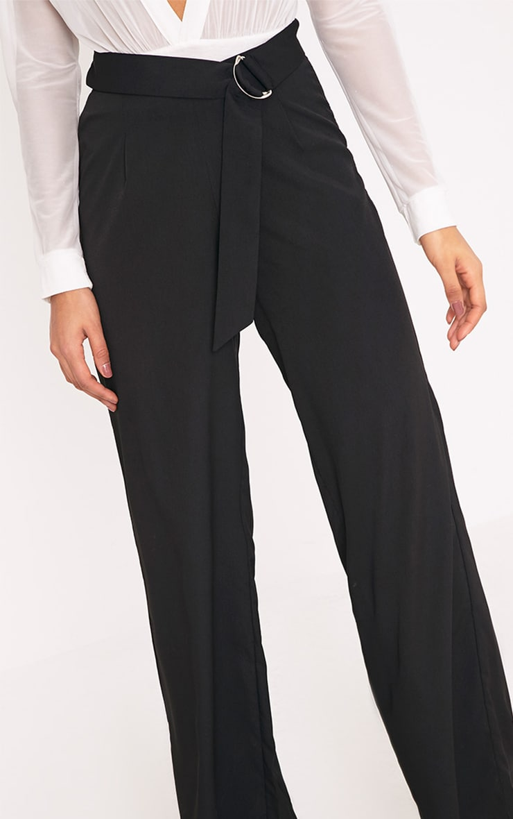 Kenna Black Belted D Ring Trousers 5