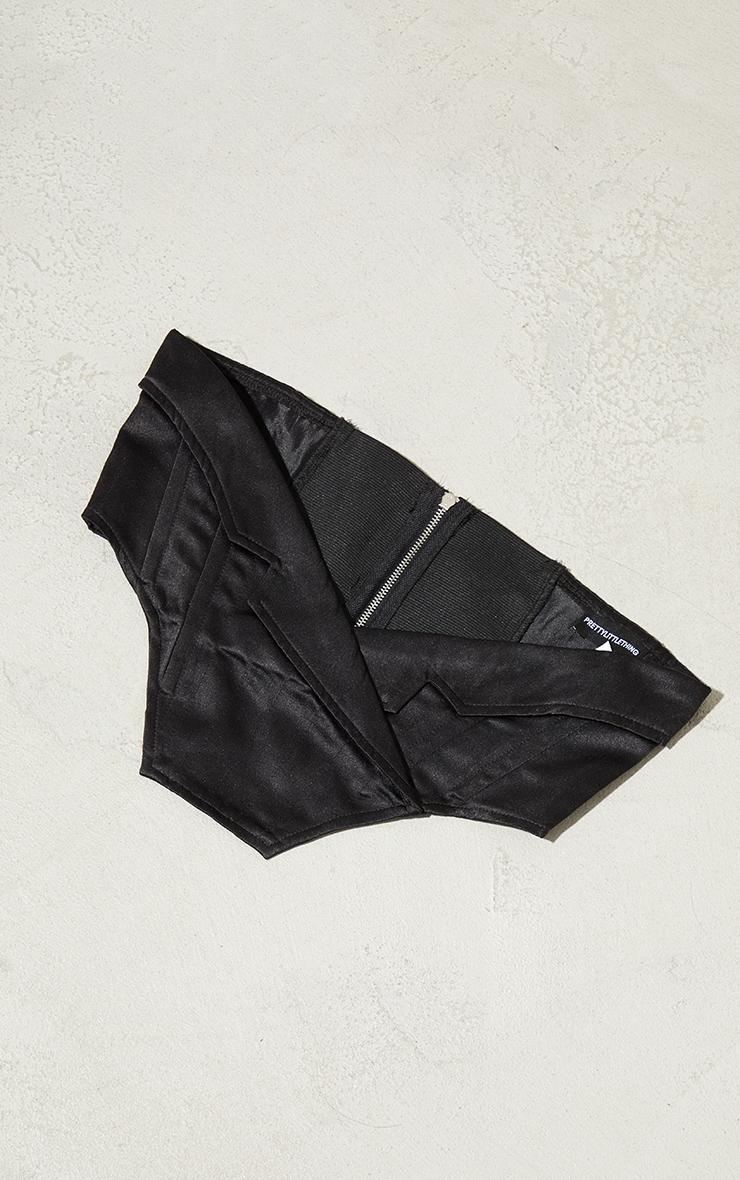 Black Collar Detail Corset Belt 2