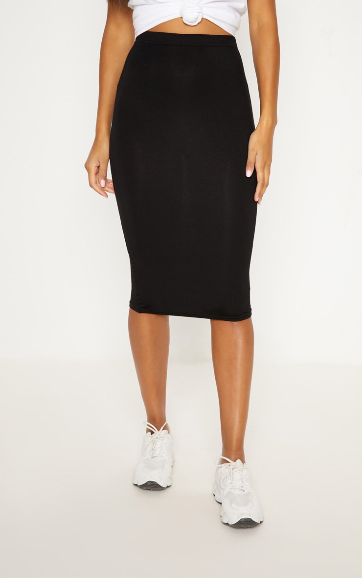 Basic Black & Khaki Jersey Midi Skirt 2 Pack 2
