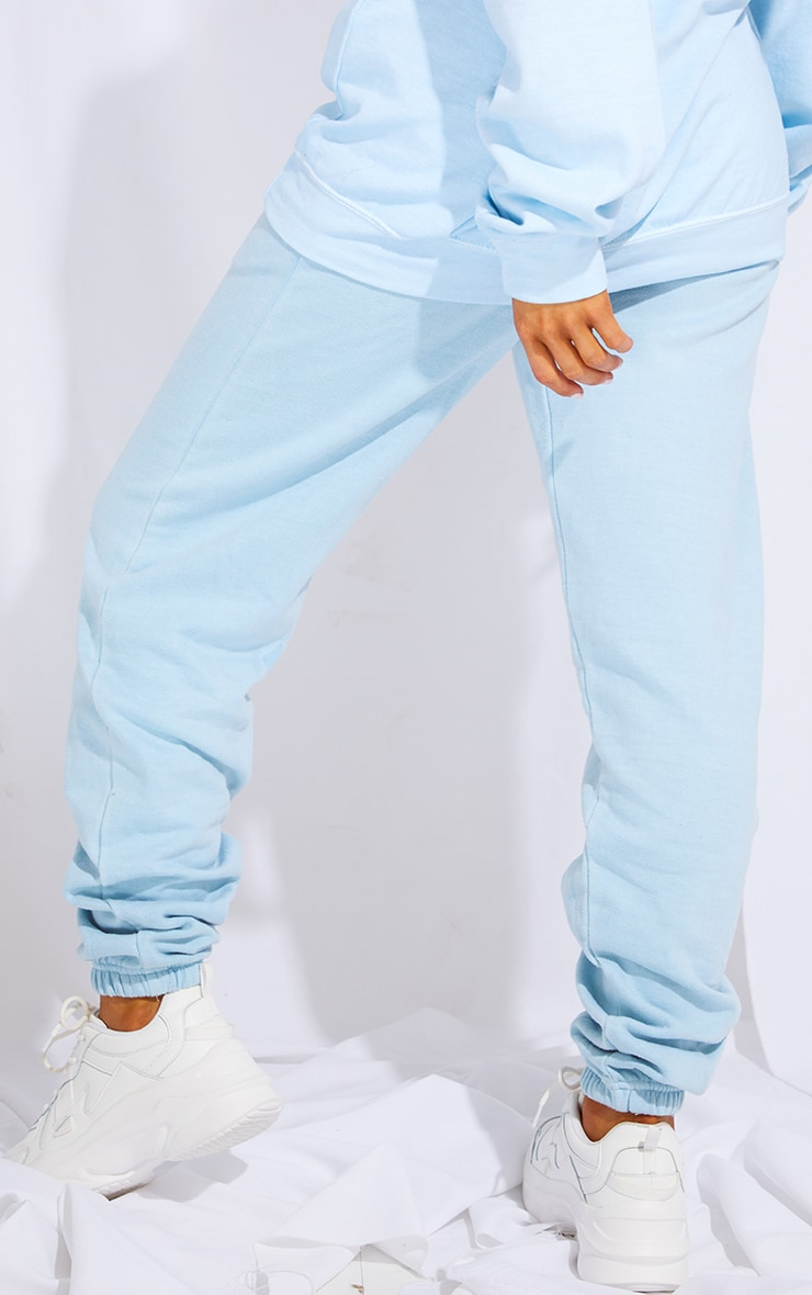 PRETTYLITTLETHING Light Blue Wash Sports Jogger 3
