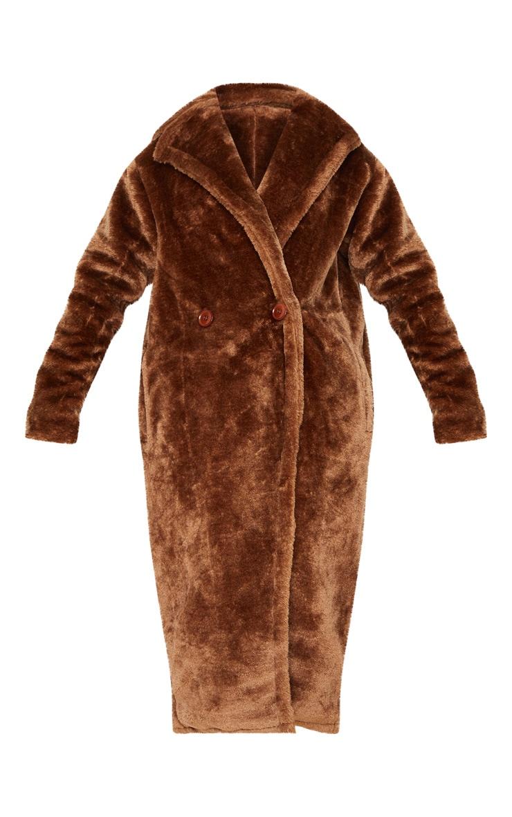 Brown Faux Fur Coat  3