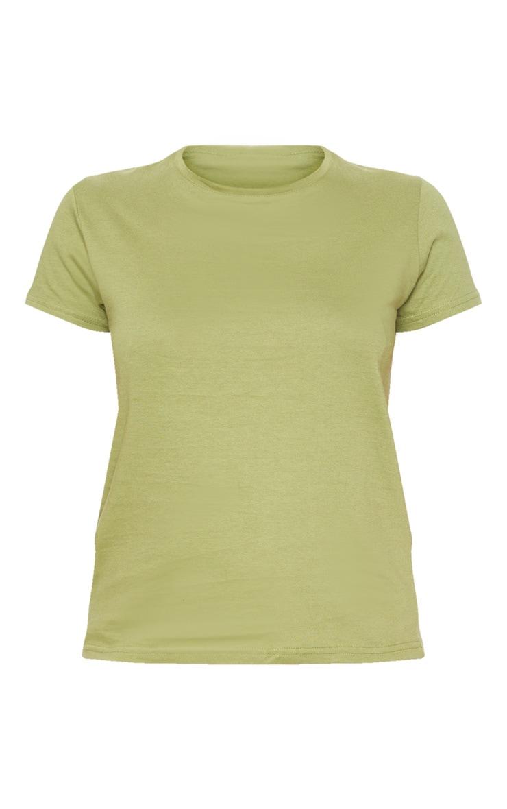 Sage Khaki Fitted Short Sleeve T Shirt 3