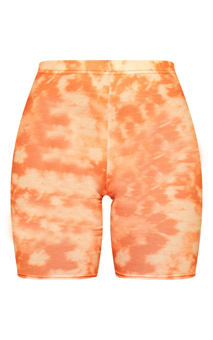 Basic Orange Tie Dye Cycle Shorts 6
