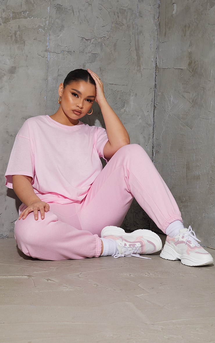 Plus Ultimate Light Pink Oversized T Shirt 3