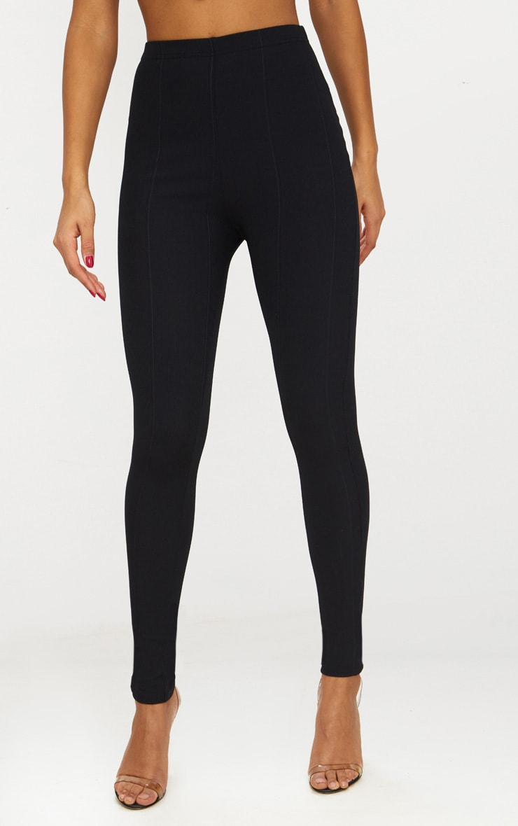 Black High Waisted Bandage Leggings 2