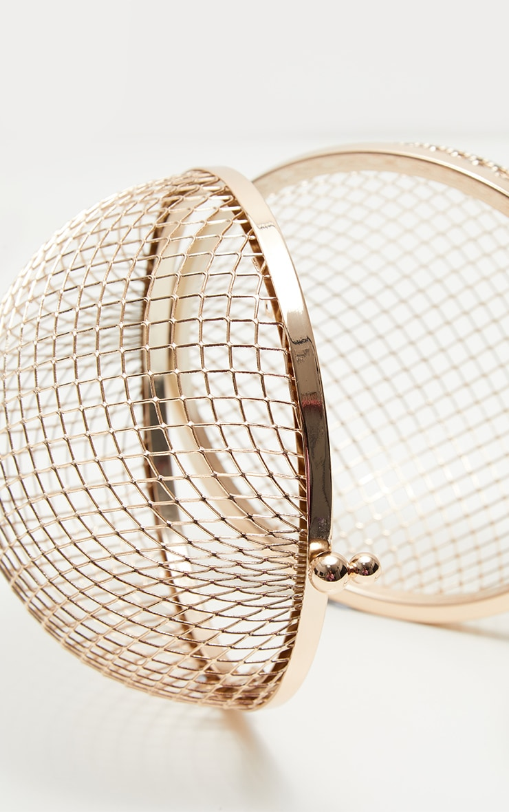 Gold Caged Sphere Clutch 4