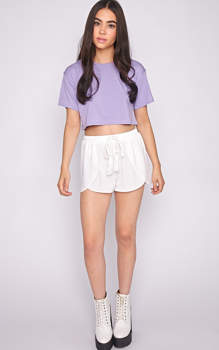 Lucille Lilac Boyfriend Crop Top 3