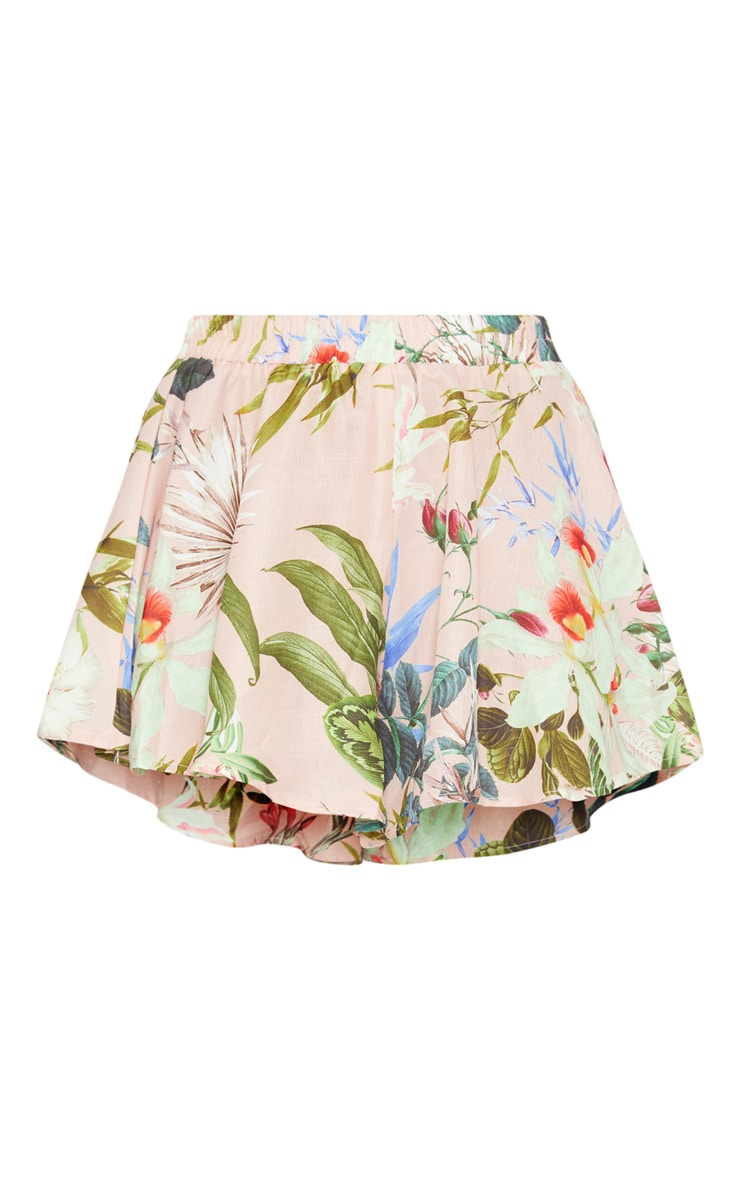 Pink Palm Print Floaty Short 3