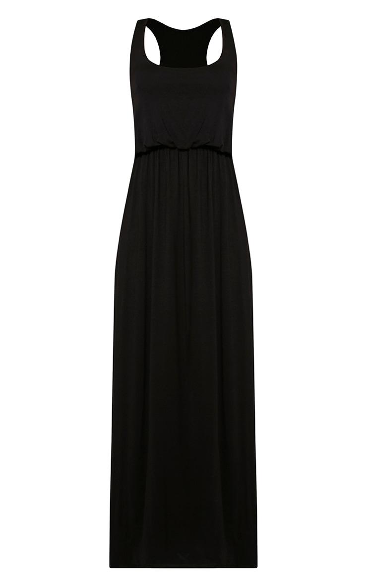 Basic robe dos nageur maxi noire 3