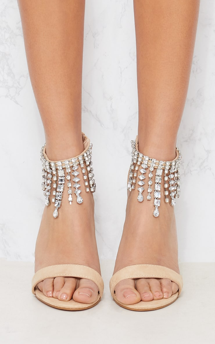 Fashionable Discount 100% Original Nude Diamante Cuff Heeled Sandal Pretty Little Thing Discount Wholesale Clearance Real From China Cheap Price yYrDyYMUAs