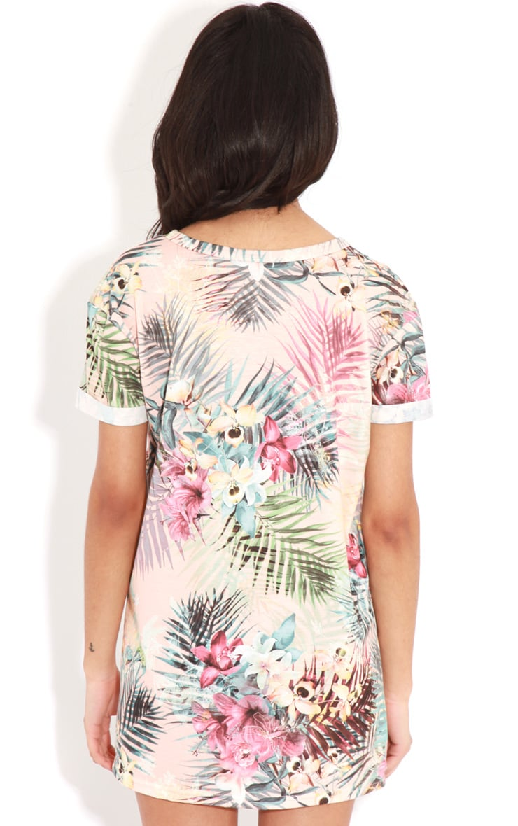 Aubree Peach Floral Miami 28 Sports Tee 2
