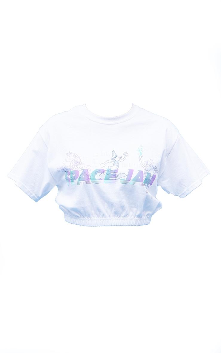 White Space Jam Printed Elasticated Crop T Shirt 5