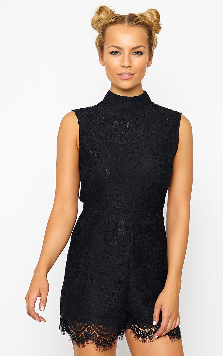 Xara Black Lace Playsuit 4