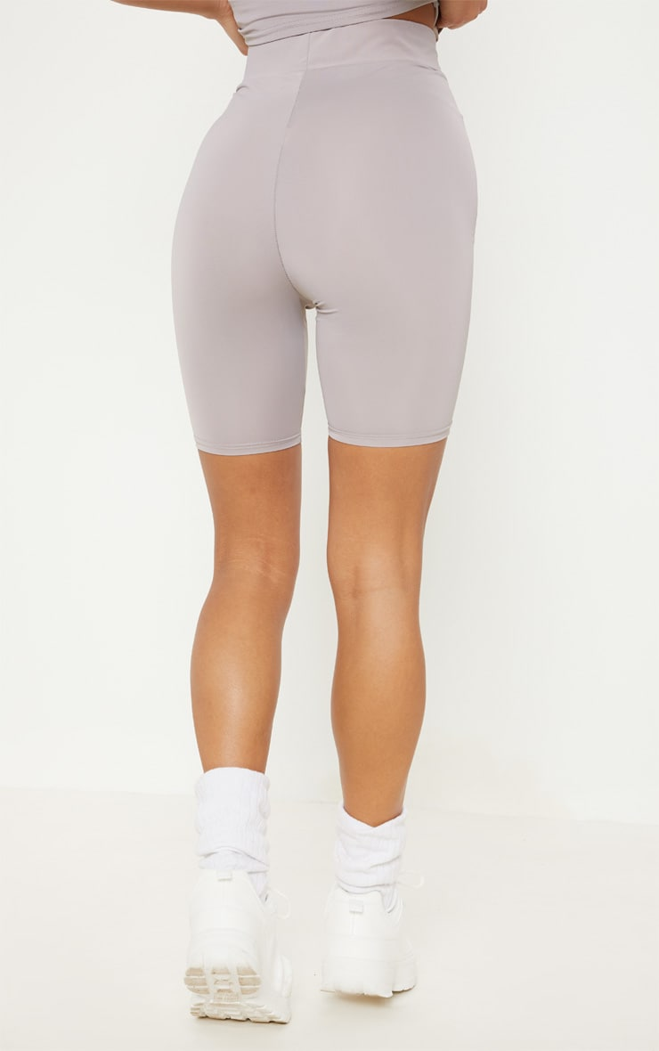 Grey Basic Gym Cycle Short 4