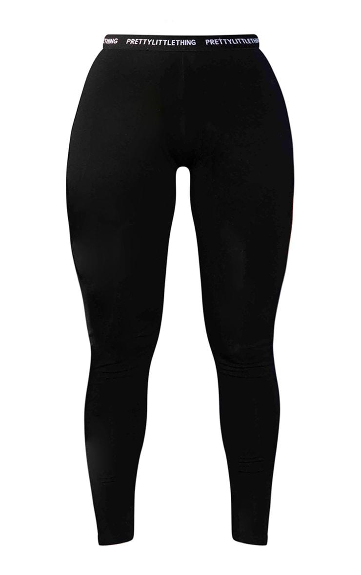 PRETTYLITTLETHING Plus Black High Waisted Leggings 5