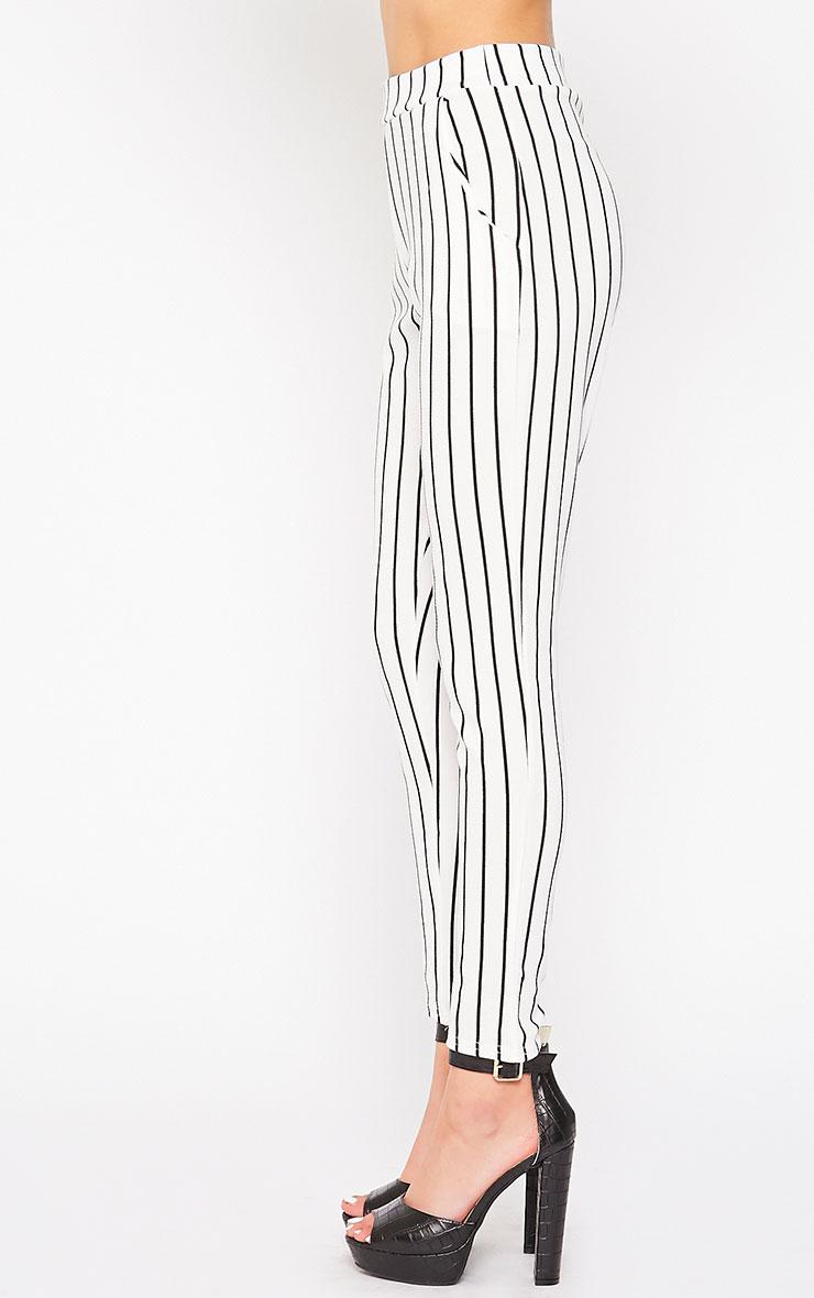 Jakoba Cream Pinstripe Pants 3