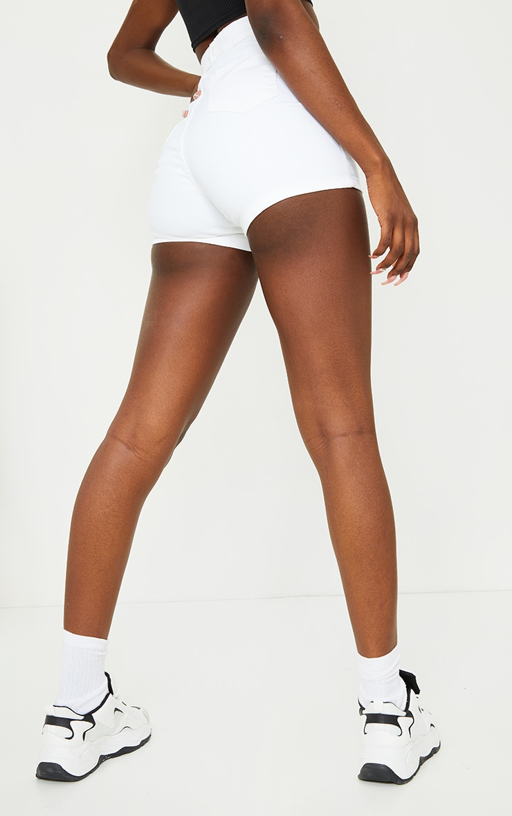 Tall White Disco Fit Short 3