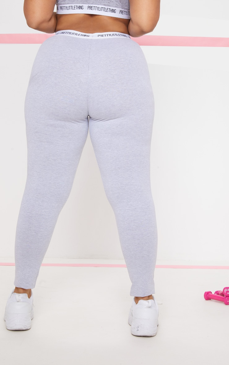 PLT Plus - Legging gris PRETTYLITTLETHING 5